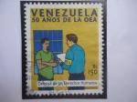 Stamps Venezuela -  50 Años de la OEA - Defensa de los Derechos Humanos