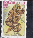 Stamps Nicaragua -  Boa constrictor