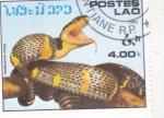 Sellos de Asia - Laos -  serpiente