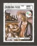 Sellos de Africa - Burkina Faso -  CAMBIADO DM