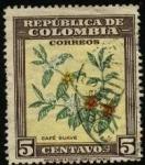 Sellos del Mundo : America : Colombia : Planta de café suave.