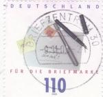 de Europa - Alemania -   Plumas, sobre y sello postal