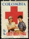 Sellos de America - Colombia -  Cruz Roja 1966