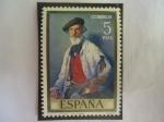 Sellos del Mundo : Europa : España : Ed:2025 - Retrato del pintor Español, Pablo Uranga (1861-1934) por el Pintor Español,Inacio Zuloaga