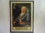 Sellos del Mundo : Europa : España : Ed:2151 -Retrato del Pintor, Goya - Por el pintor Español, Vicente López y Portaña (1772-1850) - Ser