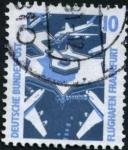 Stamps : Europe : Germany :  Aeropuerto Frankfurt