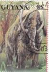 Stamps Guyana -  Animales prehistóricos-MAMUT