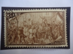 Stamps Italy -  Primer Centenario del Resurgimiento Italiano (1848-1948) - Venezia.22.III.1848