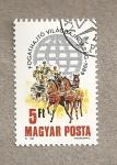 Stamps Hungary -  Campeonatos tercer mundo de carruajes conducidos por 2