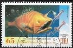 Stamps : America : Cuba :  Peces - Caulophryne sp.