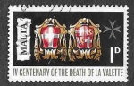 Stamps : Europe : Malta :  387 - 400 Aniversario de la Muerte del Gran Maestre Jean de La Valette