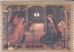 Stamps United Arab Emirates -  Visita del arcángel