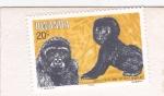 Stamps Rwanda -  Gorilas de montaña