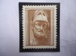 Stamps Greece -  Cabeza de Pericles - (495 a.C - 429 a.C) - Arte Antiguo Griego - Sello de 30 Lipton Griego.