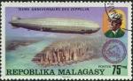 Sellos de Africa - Madagascar -  Aniversario Zeppelin