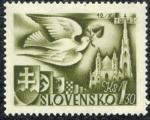 Stamps Slovakia -  Paloma