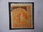 Sellos de America - Nicaragua -  UPU 1894 - Sobrestampado:Franqueo Oficial - Paz y Victoria - Victoria Permanente.
