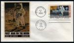 Sellos del Mundo : America : Estados_Unidos : Apolo XI,  Primer hombre en la Luna