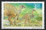 Sellos del Mundo : Europa : Bulgaria :  Animales prehistóricos - Iguanodon