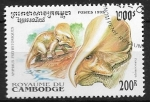 Sellos del Mundo : Asia : Camboya :  Animales prehistóricos - Protoceratops