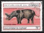 Sellos del Mundo : Africa : República_del_Congo :  Animales prehistóricos - Elefante