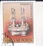 Stamps Hungary -  Corona de la Torá, Buda