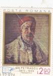 Stamps Hungary -  Autorretrato de Gh. Petrascu (1872-1949)