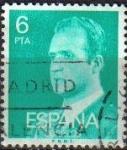 Stamps Spain -  ESPAÑA 1977 2392 Sello Serie Basicas Rey Don Juan Carlos I 6p Usado
