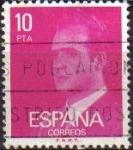 Sellos de Europa - España -  ESPAÑA 1977 2394 Sello Serie Basicas Rey Don Juan Carlos I 10p Usado