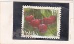 Stamps : Europe : Poland :  fruta-cereza