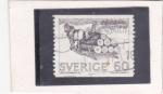 Stamps : Asia : Sweden :  transporte de troncos