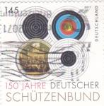 Stamps : Europe : Germany :  150 años alianza alemana de deportes de tiro