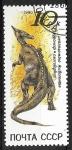 Sellos del Mundo : Europa : Rusia :  Animales prehistóricos - Saurolophus