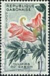 Stamps Africa - Gabon -  Tulipan