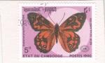 Stamps Cambodia -  Mariposa