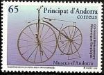 Stamps Europe - Andorra -  Museo de la Bicicleta - Velocipedo Michaux