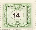 Sellos de Europa - Hungría -  PORTÓ BELYEG