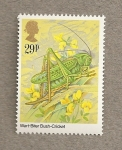 Stamps United Kingdom -  Insectos:Grillo