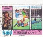Stamps United Arab Emirates -  Mundial México'70