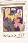 Stamps Russia -  Dos mujeres, Hugo Shaiber (1925)