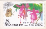 Stamps North Korea -  Mariposa