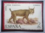 de Europa - España -  Ed:Es 2037 - Lince - Lynx Pardina- Serie: fauna Hispana 1971 .