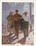 Stamps : Europe : Russia :  Mañana de trabajadores, Mikhail Belsky (1960)