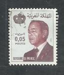 Stamps Morocco -  Serie corriente  (Hassan  II )