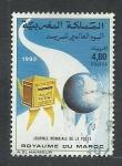 Stamps : Africa : Morocco :  Dia mundial de correos