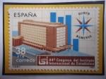 de Europa - España -  Ed:Es 2718- Instituto Internacional de Estadística- Madrid- 44°Centenario-Edificio-Emblema.
