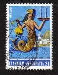 """Stamps : Europe : Greece :  Exposición """"La historia de las islas del Egeo"""" - Sirena"""
