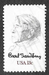 Stamps America - United States -  1731 - Carl August Sandburg