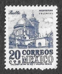 Stamps America - Mexico -  860 - Arquitectura Colonial