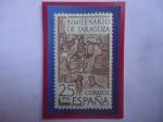 Stamps Europe - Spain -  Ed:Es 2321-Bimilenario de Zaragoza - Mosaico de Orfeo - Mosaico de la Era Romana.